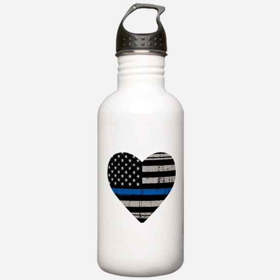 Shop Thin Blue Line Water Bottle