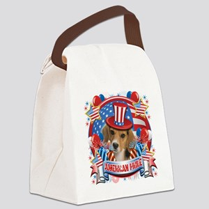 American Pride Beagle Canvas Lunch Bag
