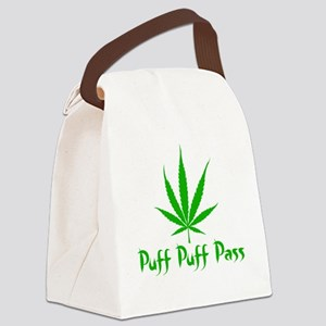 puffpuffpassLeafy Canvas Lunch Bag