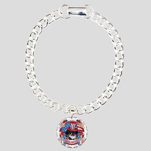 American Pride Pekingese Charm Bracelet, One Charm
