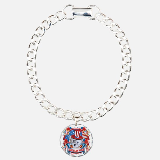 American Pride Schnoodle Charm Bracelet, One Charm