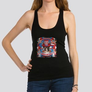 American Pride Boston Terrier Racerback Tank Top