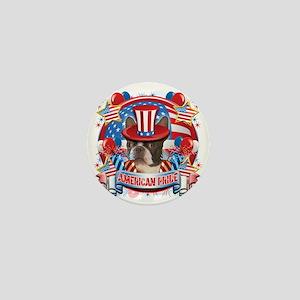 American Pride Boston Terrier Mini Button