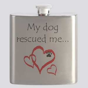 dogs are angels with fur Flask