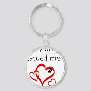 dogs are angels with fur Round Keychain
