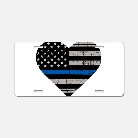 Shop Thin Blue Line Aluminum License Plate