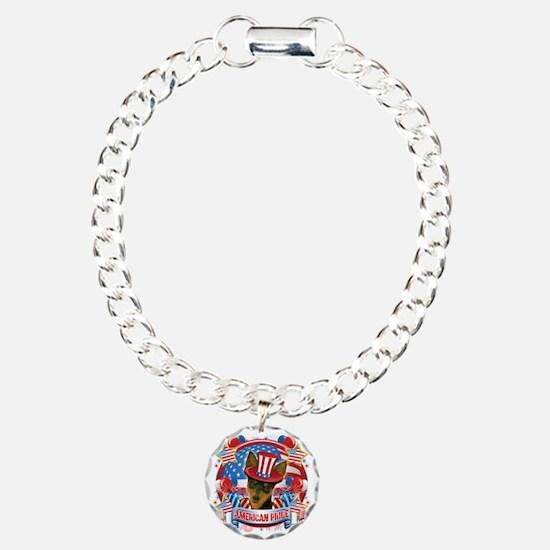 American Pride Min Pin Charm Bracelet, One Charm