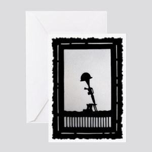 Helmet rifle boots memorial greeting cards cafepress helmet rifle boots postage stamp greeting card m4hsunfo