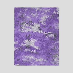 Purple Digi Camo Twin Duvet Cover