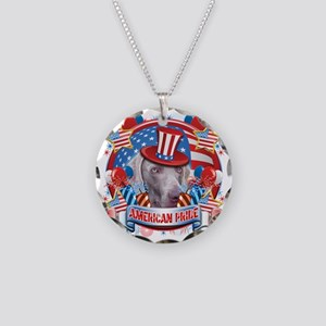 American Pride Weimer Necklace Circle Charm