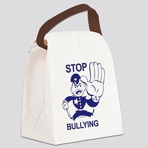 blue cop Canvas Lunch Bag