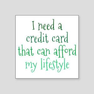 "credit-card1 Square Sticker 3"" x 3"""
