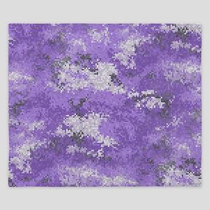 Purple Digi Camo King Duvet