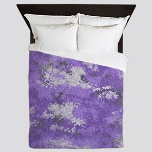 Purple Digi Camo Queen Duvet