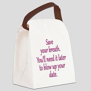 save-breath_rnd1 Canvas Lunch Bag