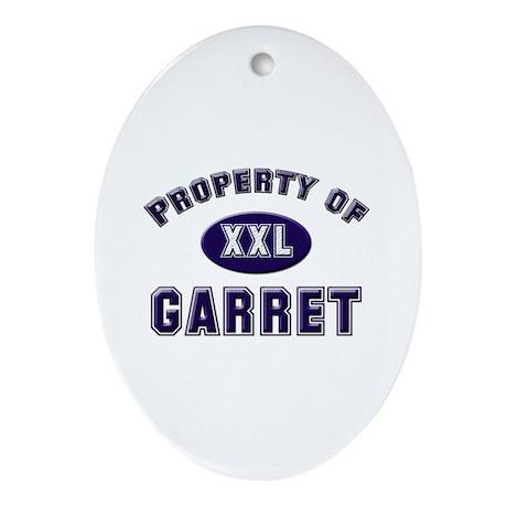 Property of garret Oval Ornament