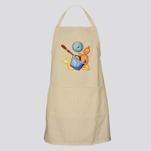 Retro Foodie Baby in Soup Pan Apron
