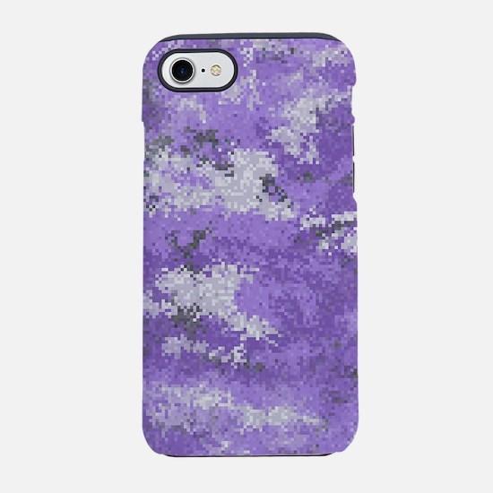 Purple Digi Camo iPhone 7 Tough Case