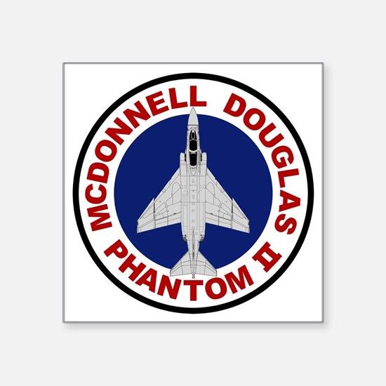 "F-4 Phantom II Square Sticker 3"" x 3"""