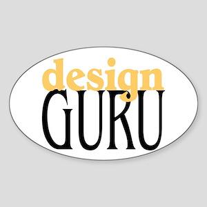 Design Guru Oval Sticker