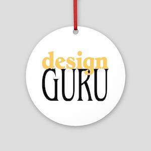 Design Guru Ornament (Round)