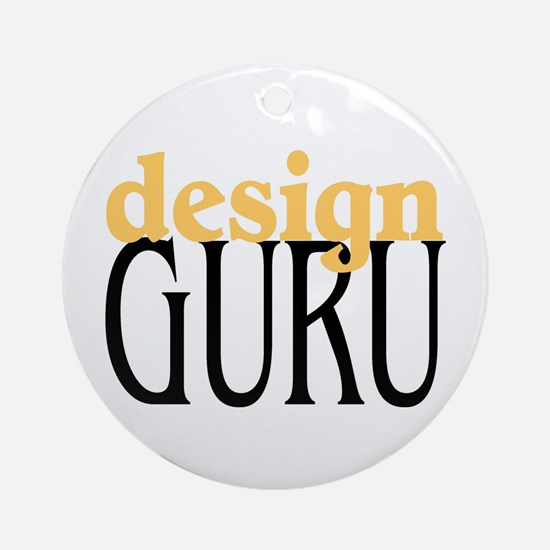 Design Guru Ornament (Round)