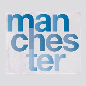man-chest-er Throw Blanket