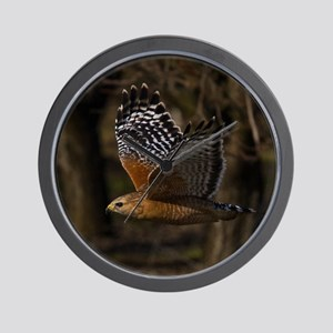 (15) Red Shouldered Hawk Flying Wall Clock