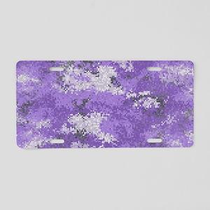 Purple Digi Camo Aluminum License Plate