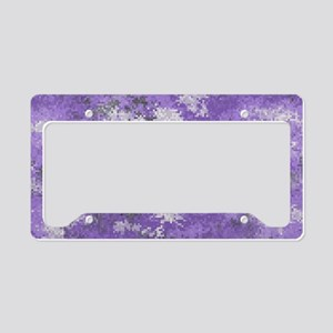 Purple Digi Camo License Plate Holder