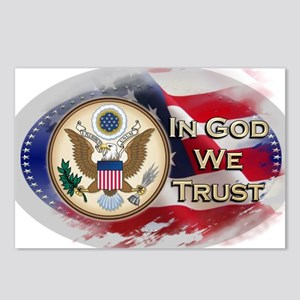 USA In God We Trust Postcards (Package of 8)