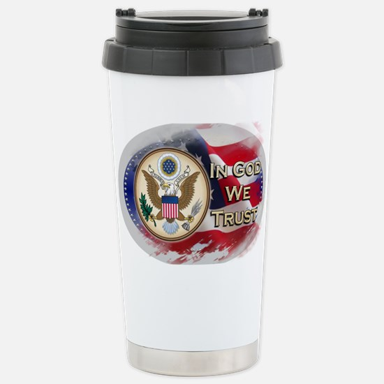 USA In God We Trust Stainless Steel Travel Mug
