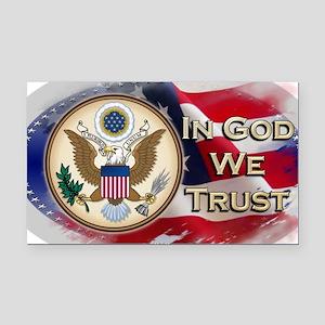 USA In God We Trust Rectangle Car Magnet