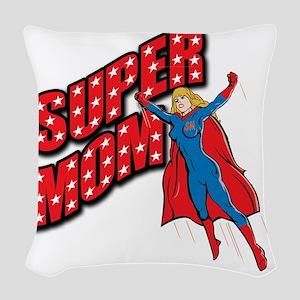 Super Mom Woven Throw Pillow