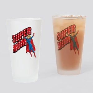 Super Mom Drinking Glass