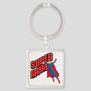 Super Mom Square Keychain