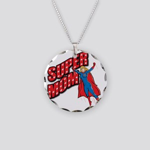 Super Mom Necklace Circle Charm