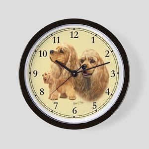 Am Cocker Clock Sml Wall Clock
