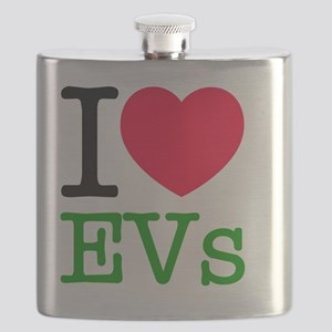 I Love Electric Vehicles Flask