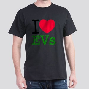 I Love Electric Vehicles Dark T-Shirt