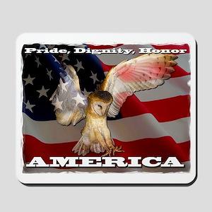 4D5Q2378 American Barn Owl SF Mousepad