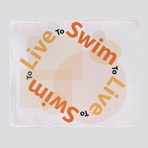 LiveSwim_T_Orange Throw Blanket