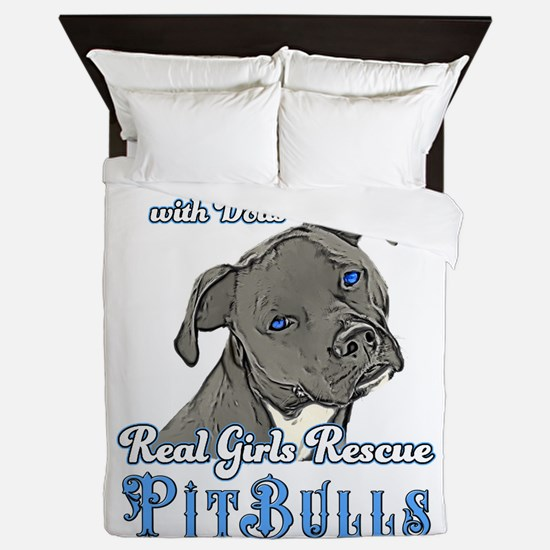 Real Girls Rescue Pitbulls Queen Duvet