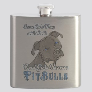 Real Girls Rescue Pitbulls Flask