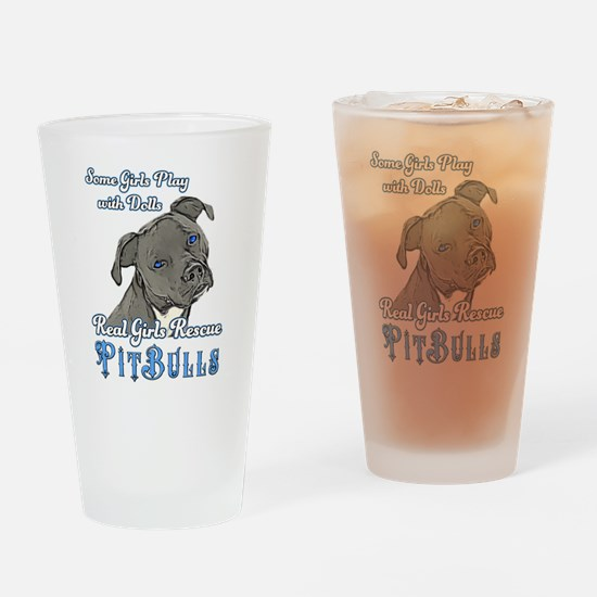Real Girls Rescue Pitbulls Drinking Glass