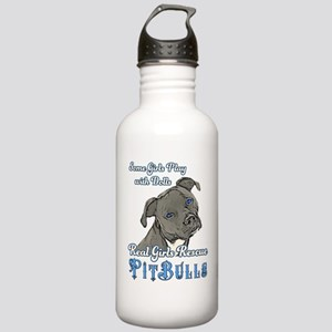 Real Girls Rescue Pitbulls Water Bottle