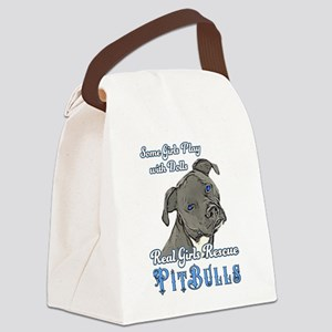 Real Girls Rescue Pitbulls Canvas Lunch Bag