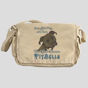 Real Girls Rescue Pitbulls Messenger Bag