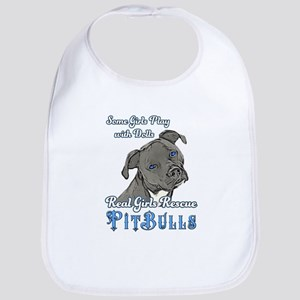 Real Girls Rescue Pitbulls Bib