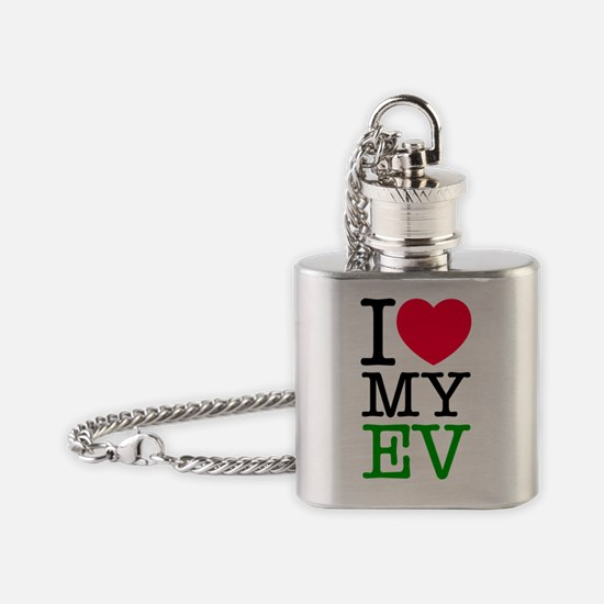 I Love My Electric Vehicle Flask Necklace